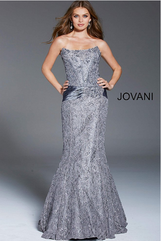 Satin A-Line Jovani Dress 25190
