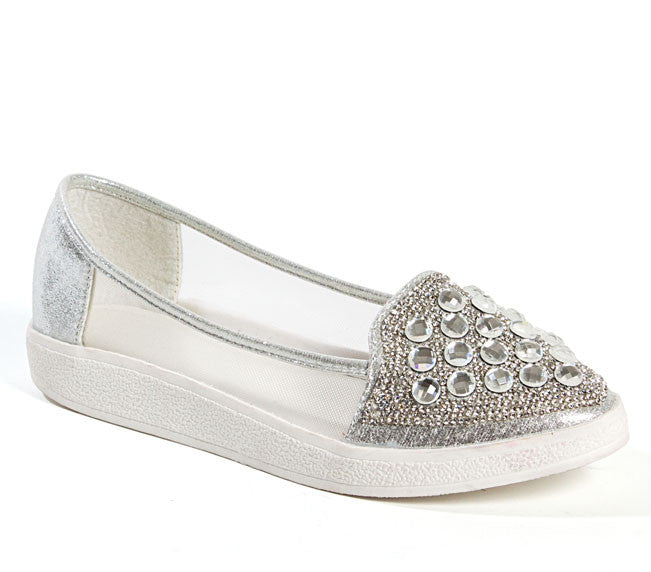 Sky Silver Lady Couture Flats