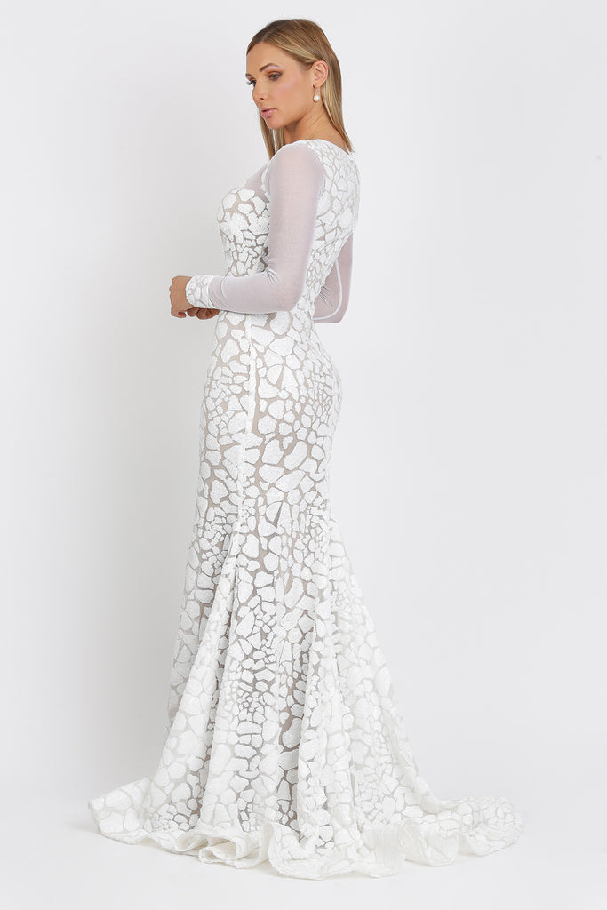 Soila Long Full Sequin Baccio Couture Gown