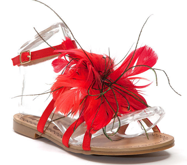 Lady Couture Shoes Sandals Sunflower Red | Maka's Boutique