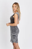 Sussy Short Painted Velvet Baccio Couture Dress