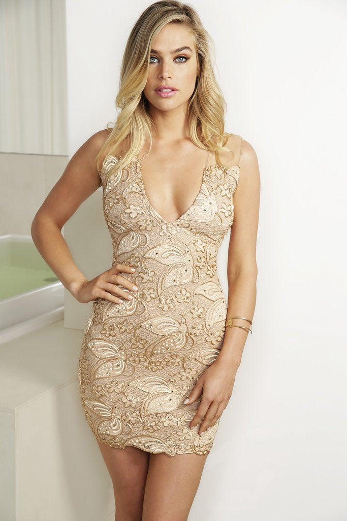 Cindy Gold Baccio Couture Dress