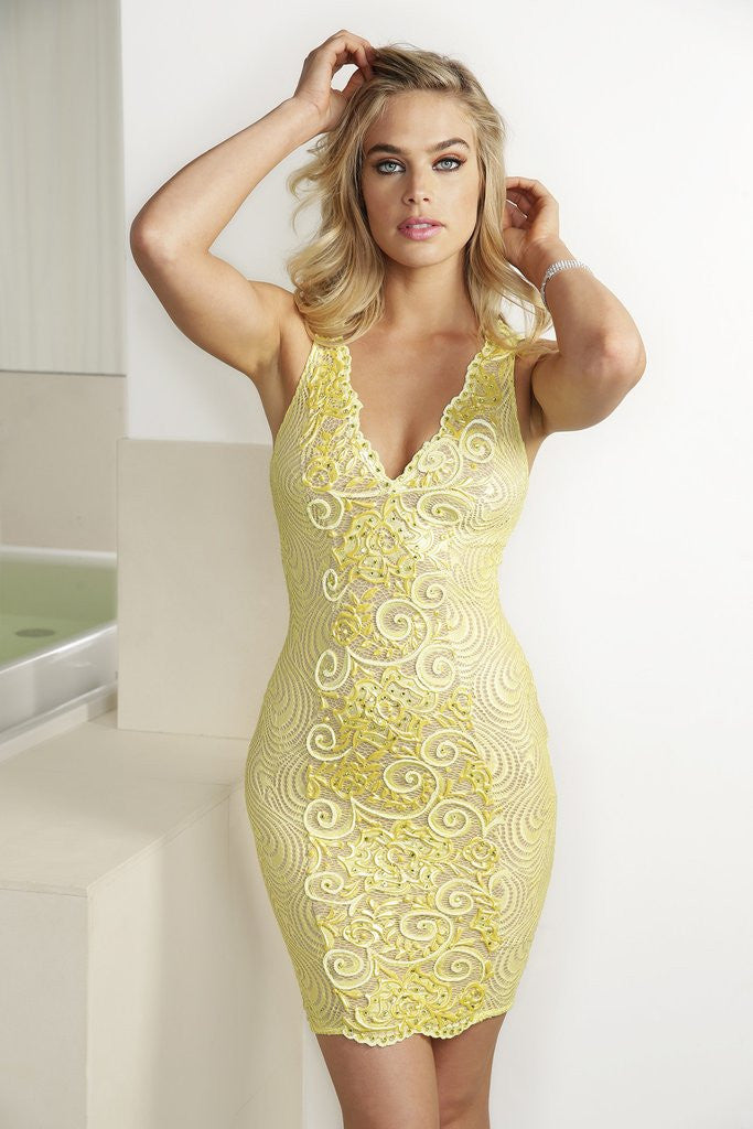 Emy Yellow Baccio Couture Dress