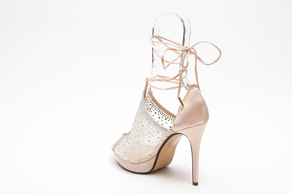 VOGUE CHAMPAGNE LADY COUTURE SHOES