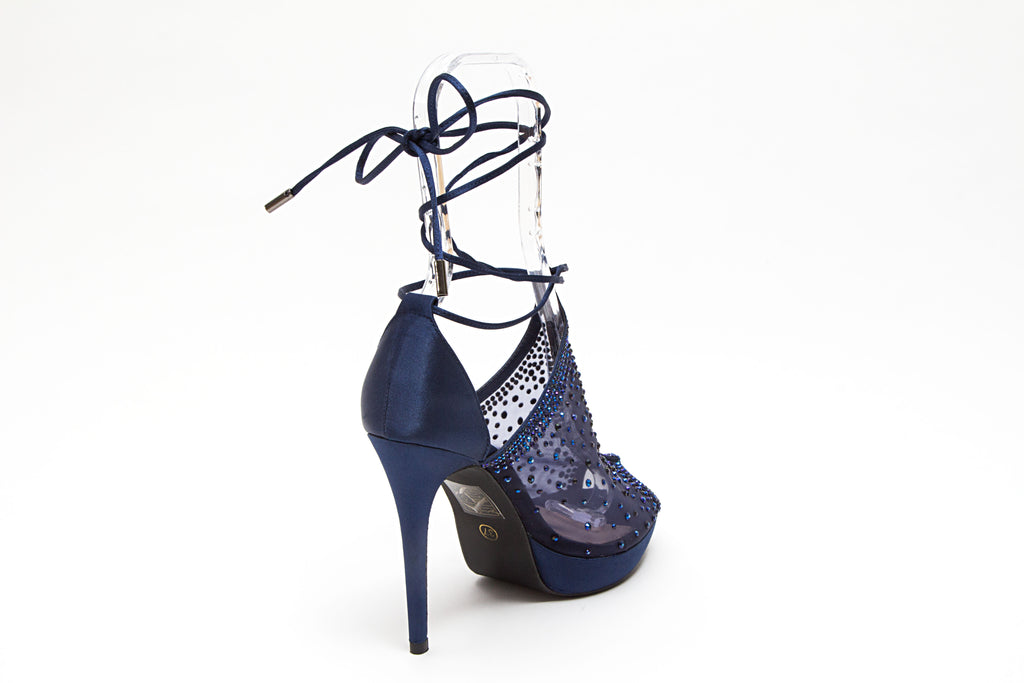 VOGUE NAVY LADY COUTURE SHOES