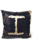 Ximena Valero Pillow Case Black Gold 18x18