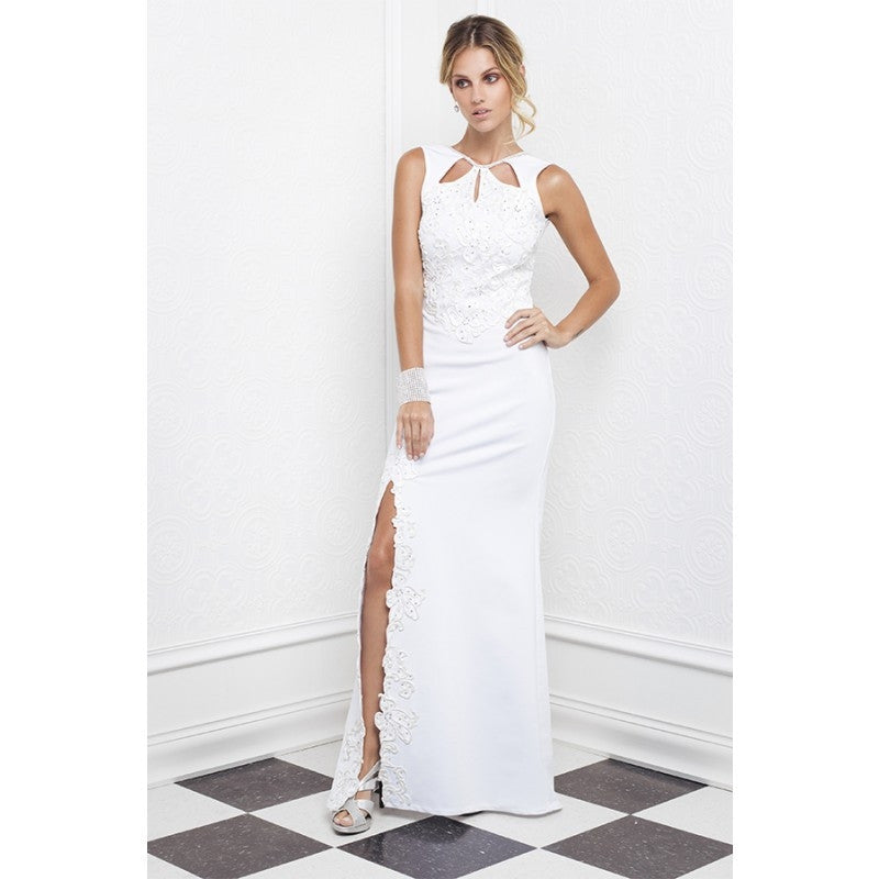 Lena Painted Bandage Baccio Couture Long Dress