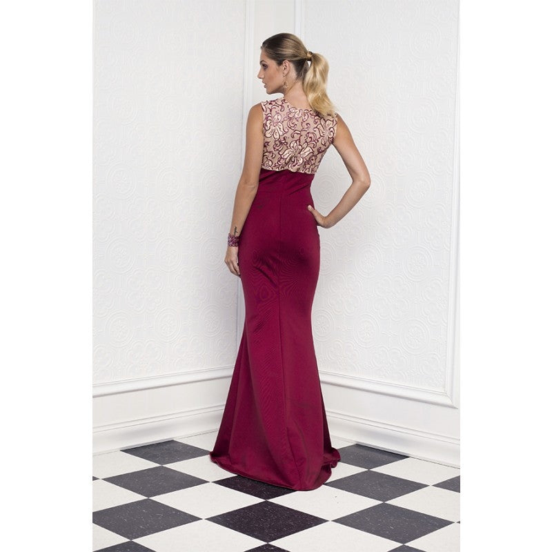 Ruby Painted Bandage Baccio Couture Long Dress