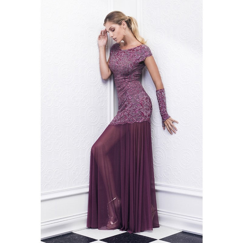 Sury Painted Baccio Couture Long Dress