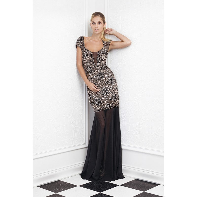 Anay Painted Baccio Couture Long Dress