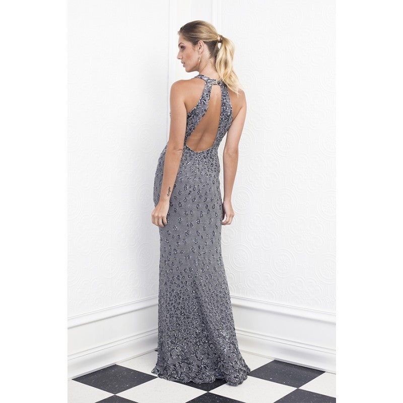 Lidia Fully Painted Baccio Couture Long Dress