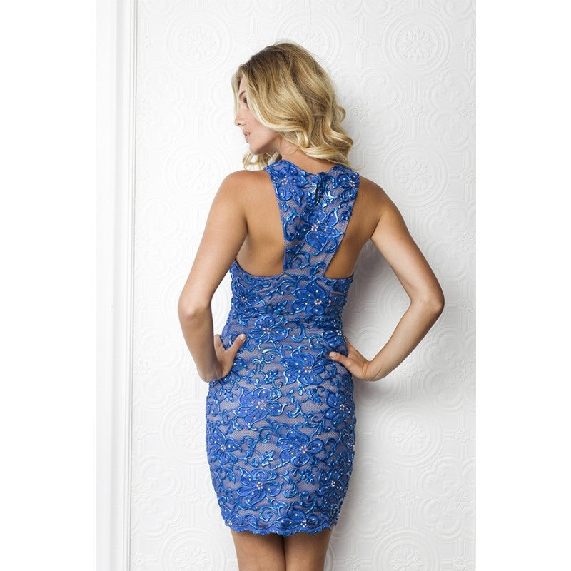 Milly Painted Baccio Couture Short Dress