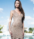 Bella Painted Short Dress Baccio Couture