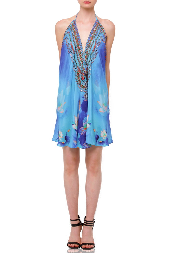 Lotus Azure Shahida Parides Short Dress