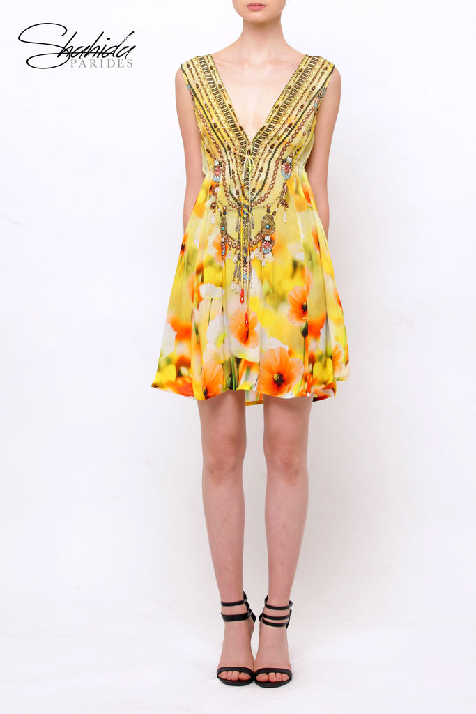 California Creme Soufflé Short Shahida Parides Dress