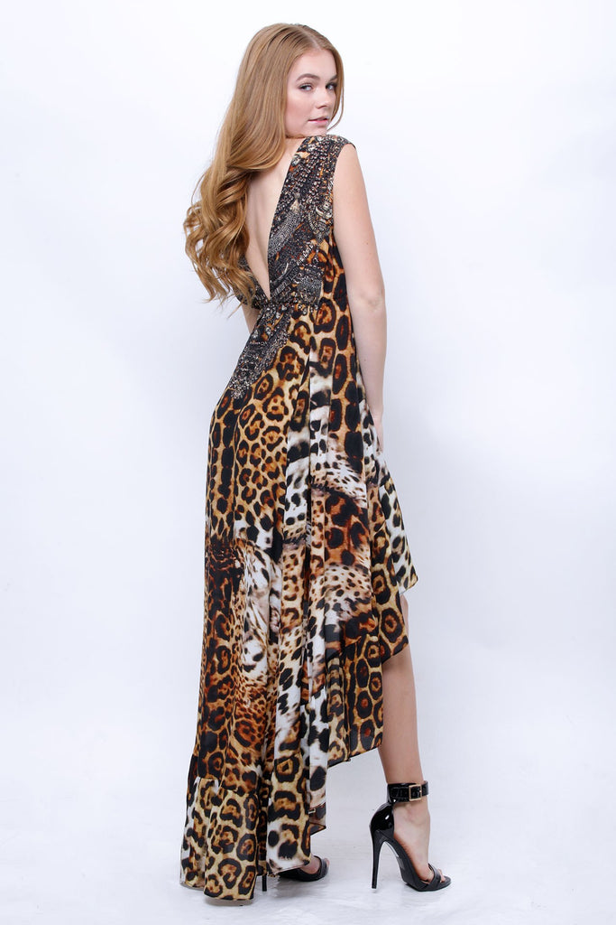 Panther Port High Low Shahida Parides Dress