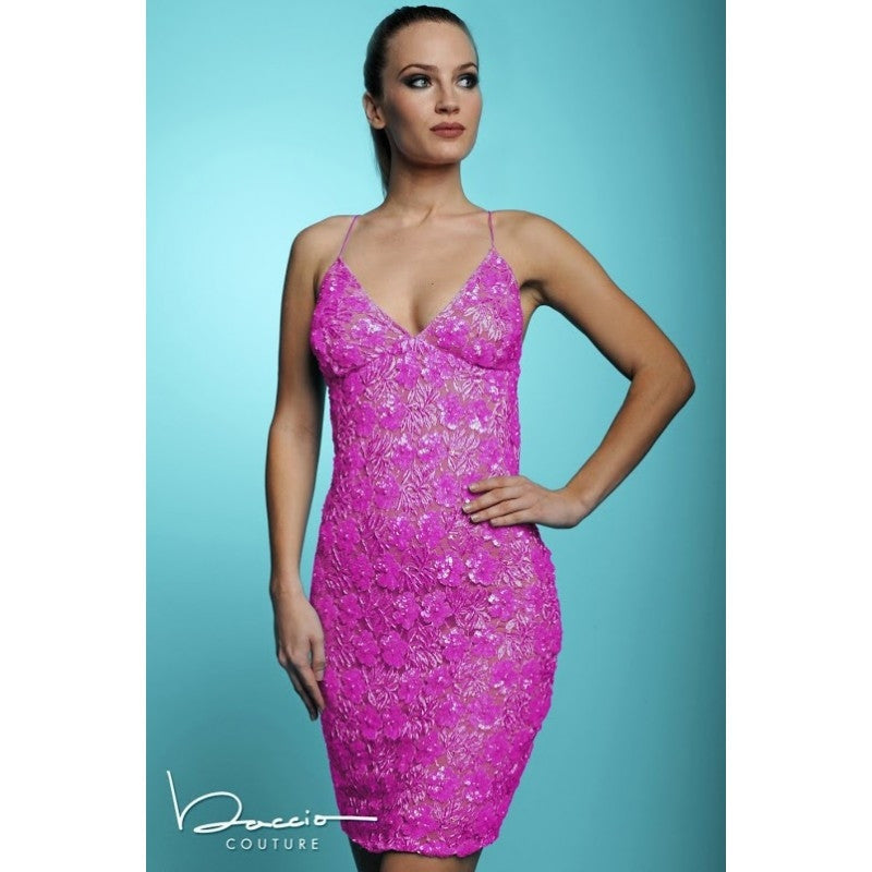 Jessie Beaded Short Dress Baccio Couture
