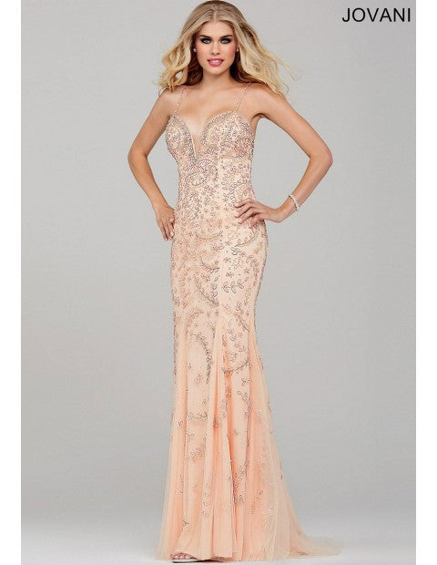 JOVANI 33704 BLUSH DRESS | JOVANI DRESS