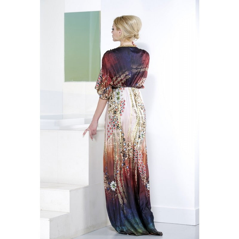 Kourtney Silk Long Dress Baccio Couture