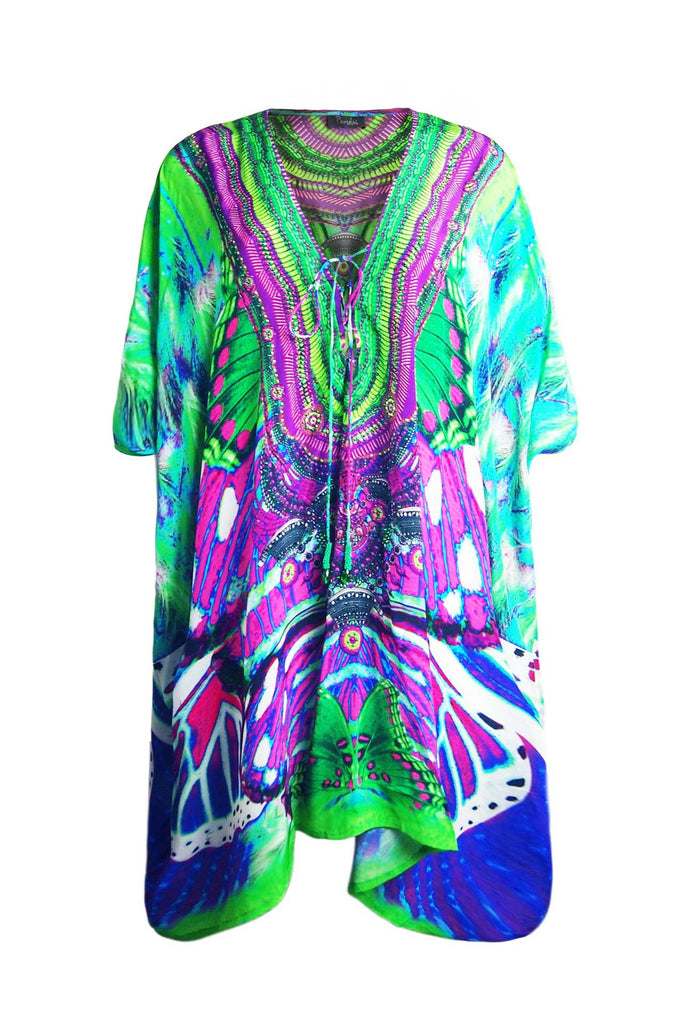 Avatar Purple Luxury Short Kaftan Dress