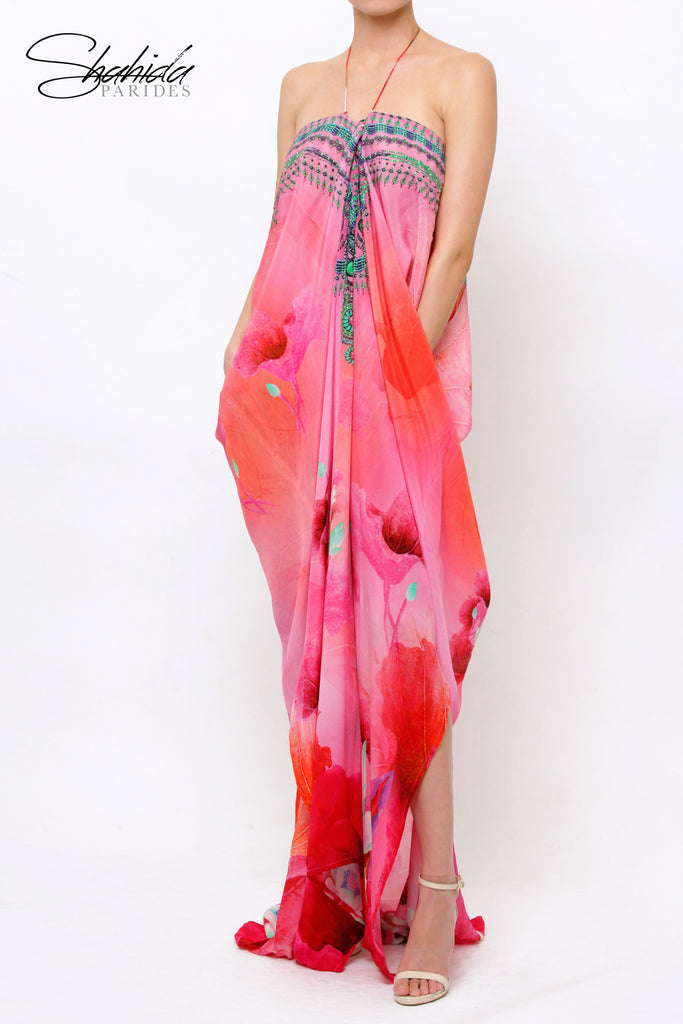 Lotus Flamingo Shahida Parides Kaftan Dress