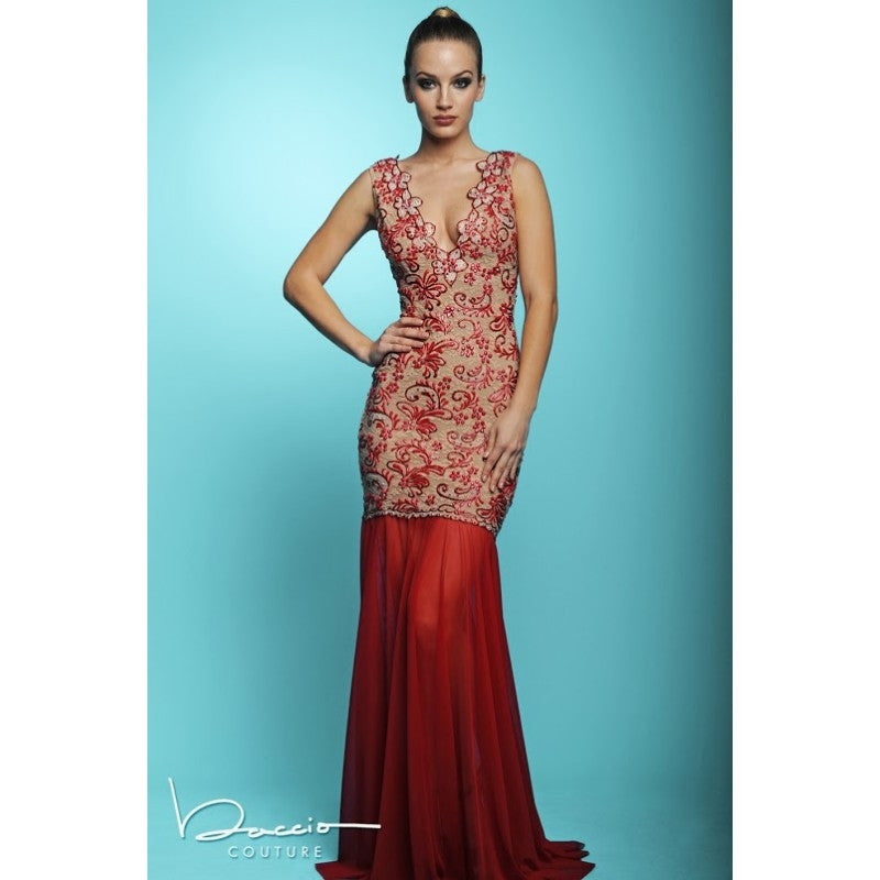 Baccio Couture Molly Painted Long Dress