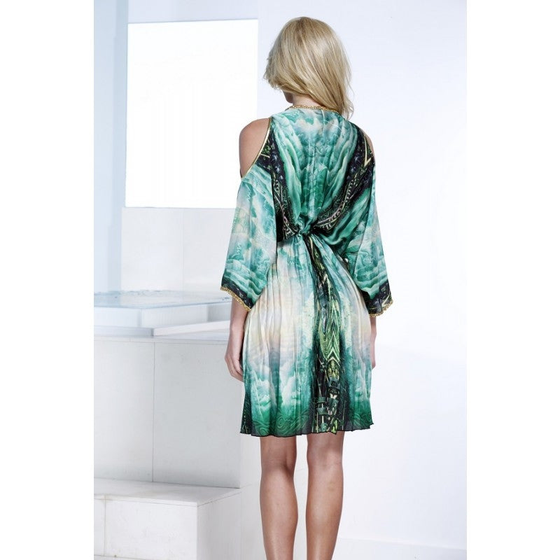 Monique Silk Short Dress Baccio Couture