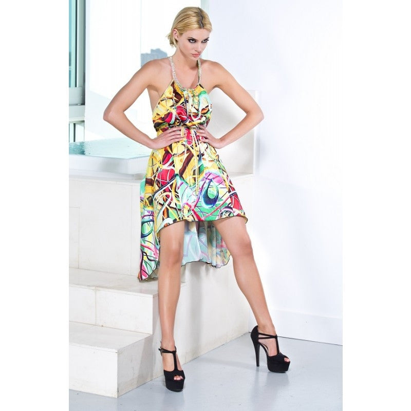Nelly Silk Short Dress Baccio Couture