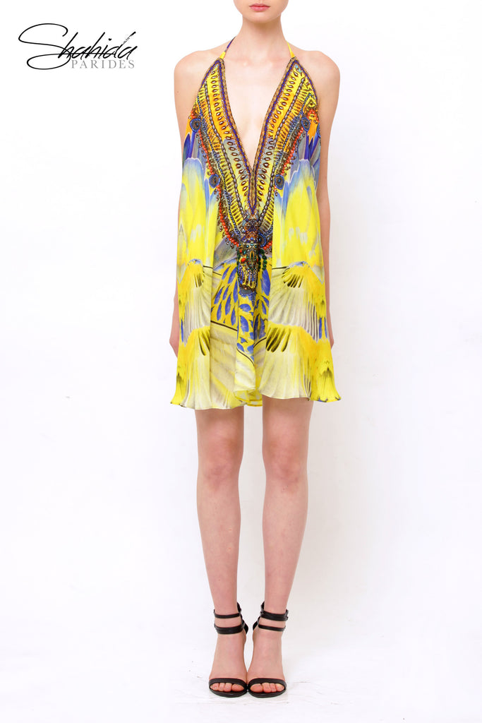 Macaw Lemon Drop Shahida Parides 3 Way Dress