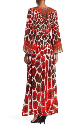 Jaguar Red Shahida Parides Wrap Dress