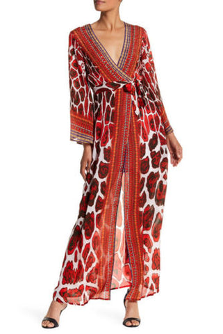 COACHELLA PRINTED BURGUNDY MAXI DRESS AS SEEN ON KYLE RICHARDS