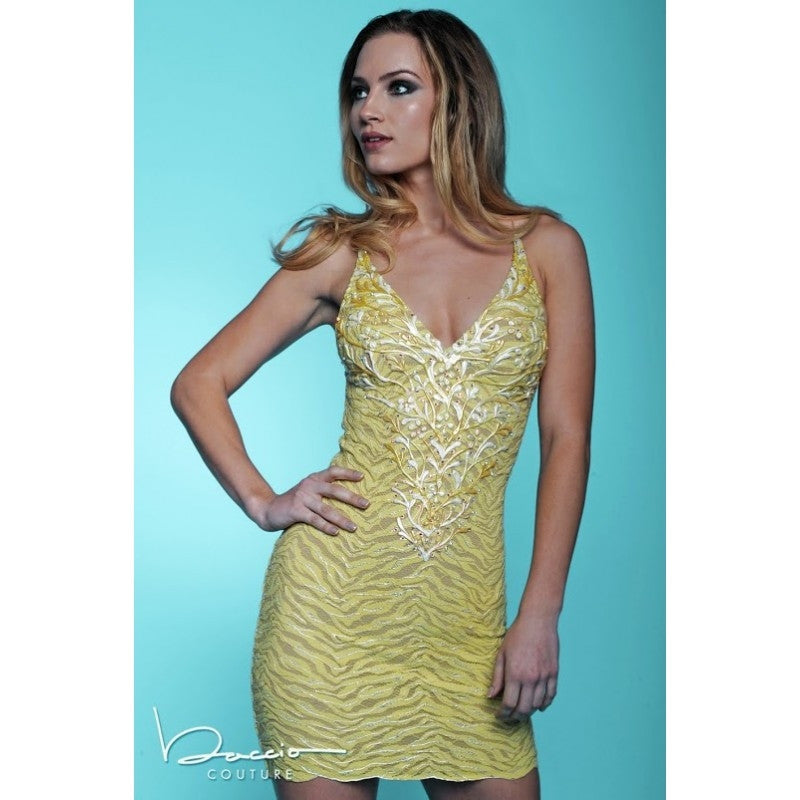 Sally Yellow Painted Baccio Couture Dress