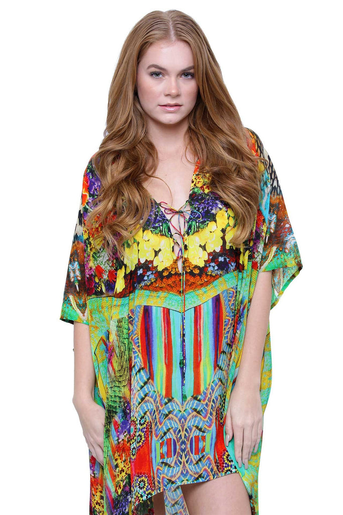 Bloomtown Shahida Parides Hi/Low Kaftan Dress
