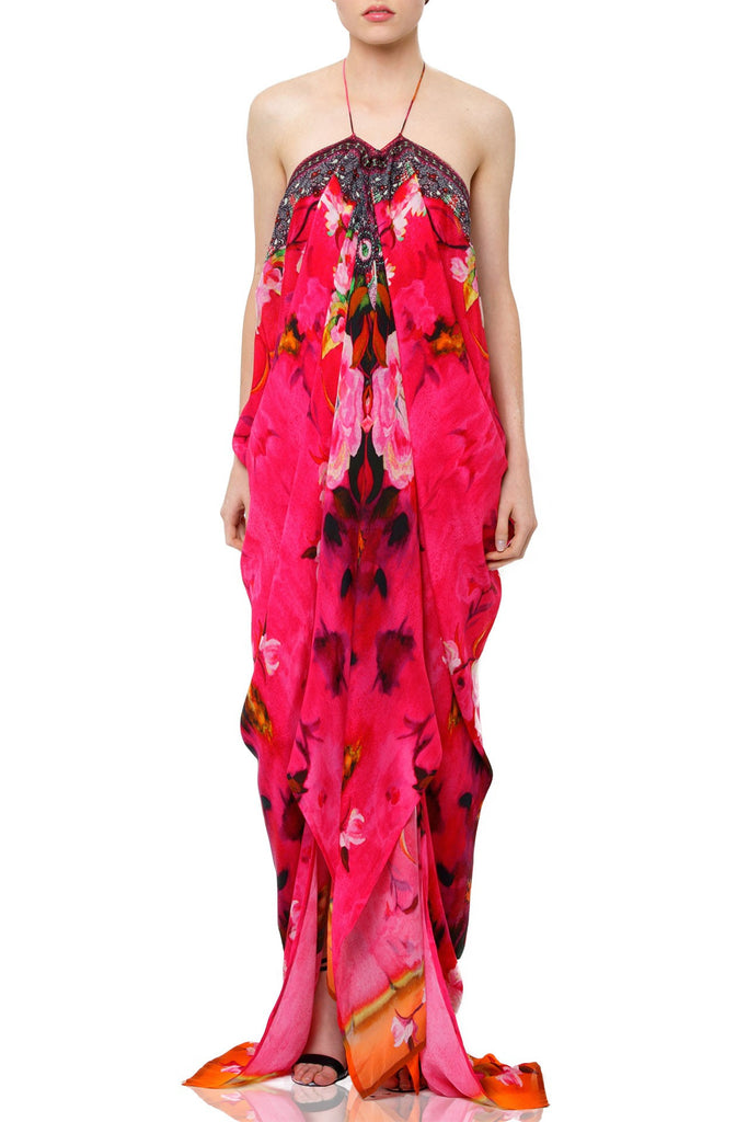 Flamingo Rose Parides Kaftan Dress