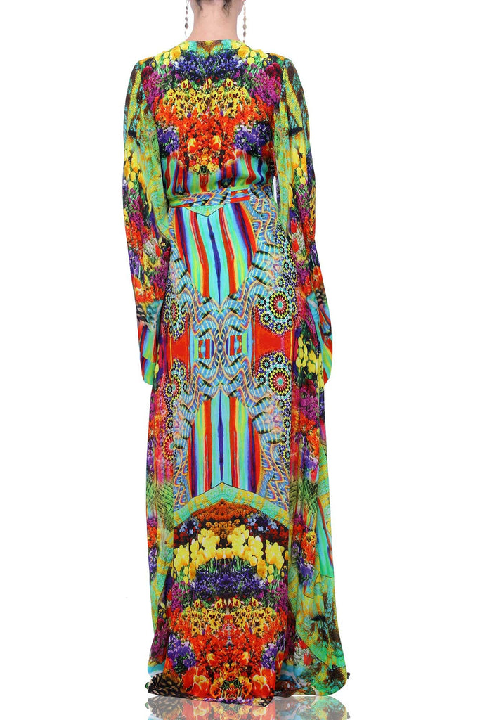 Bloomtown LOUNGE WEAR KIMONO WRAP DRESS