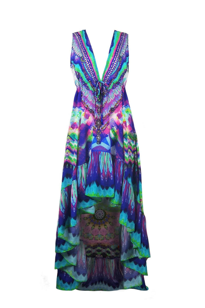 Sarina Blue High Low Shahida Parides Dress