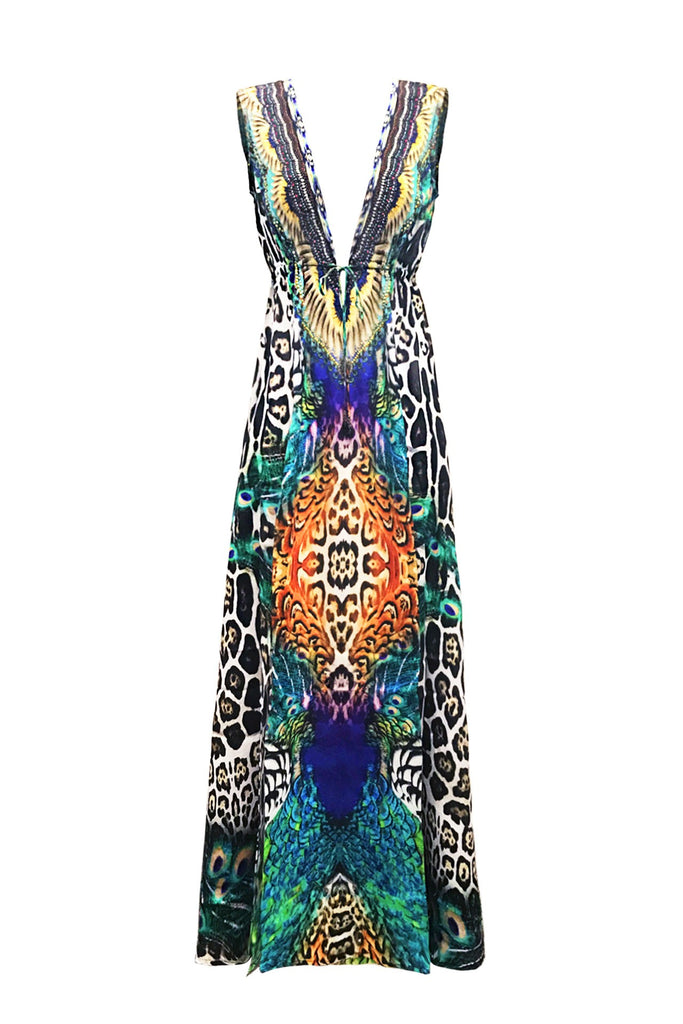 PEACOCK SHAHIDA PARIDES DRESS AS SEEN ON KYLE RICHARDS