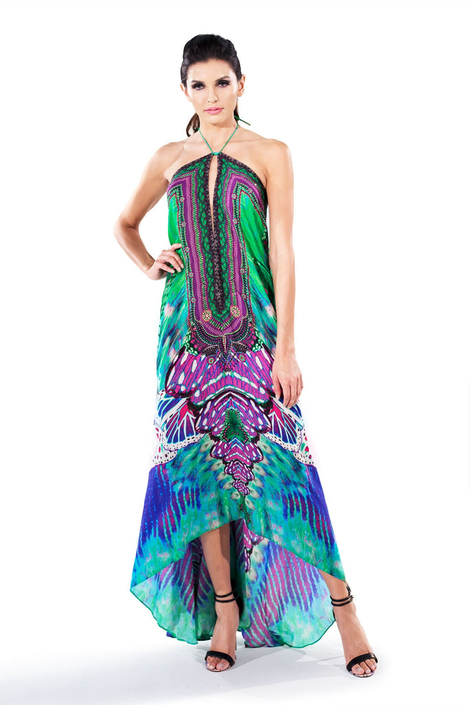 Avatar Purple Infinity Long 3 Way Dress Parides