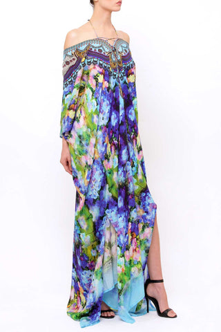 Georgia California Poppy Shahida Parides Kaftan Dress