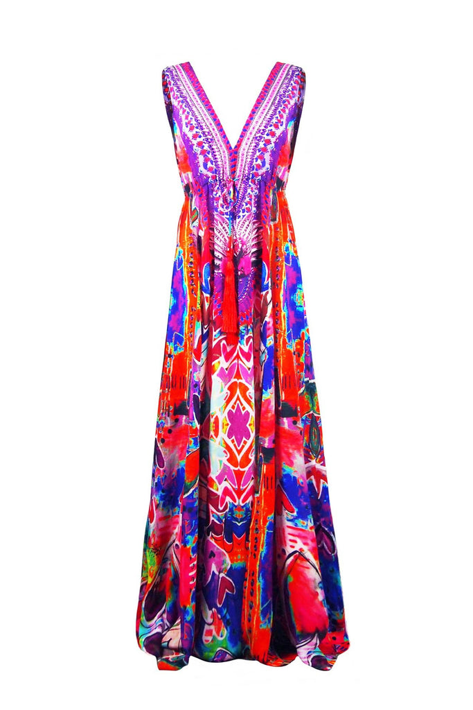 Heart 2 Heart Red Parides Maxi Dress