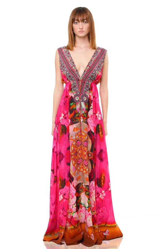 ROS-213L Flamingo Shahida Parides Maxi Dress