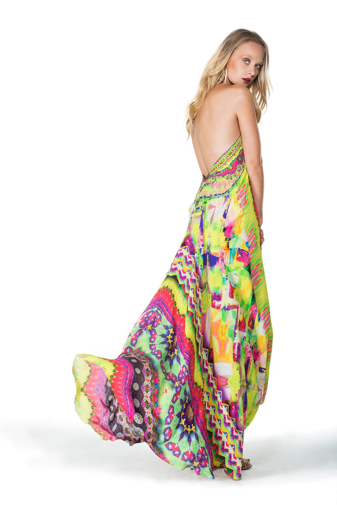 Sarina Yellow Infinity Long 3 Way Dress Parides