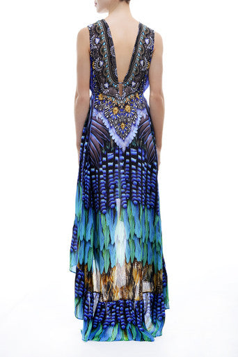 Hi Low BJ-219 Blue Jay Parides Dress