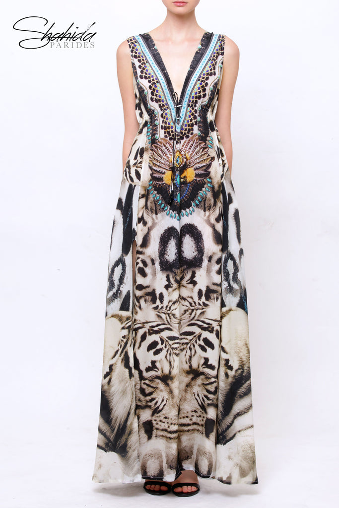 White Tiger Parides Maxi Dress
