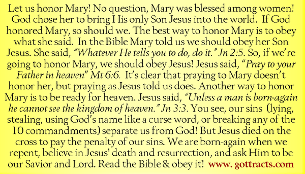 Mary Gospel Tracts
