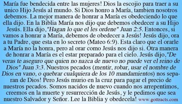Spanish Mary Gospel Tracts