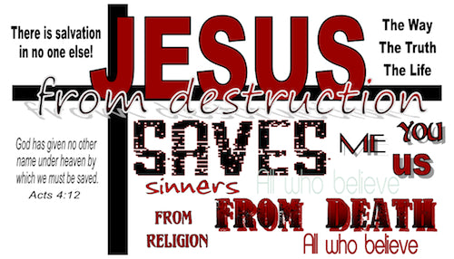 Jesus Saves Gospel Tracts