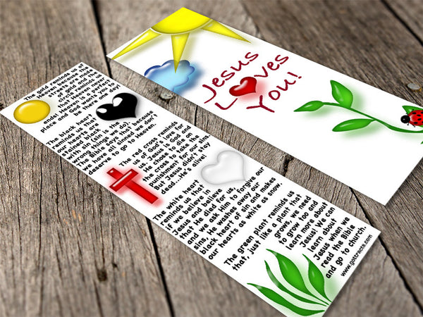 Kids Bookmark Gospel Tracts