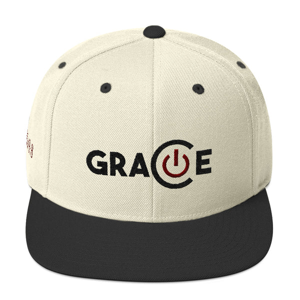 Powered By Grace Snapback Hat NEW COLOR!!