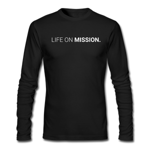 Life On Mission Long Sleeve Tee (Black) - black